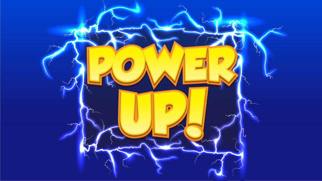 Power UP! Game Title Logo